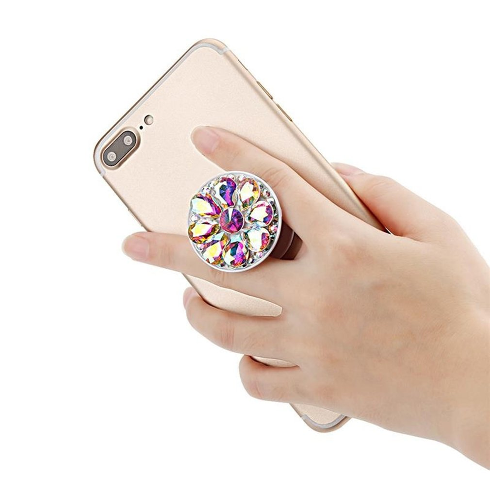 Finger Ring Phone Holder Bling Air Bag Diamond SmartPhone Stand For IPhone Samsung Universal Expanding Stents Car Mount