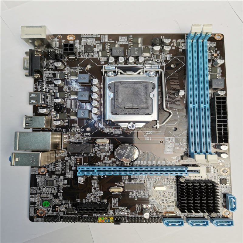 Mainboard-Socket Ddr3 16gb PCI-E Intel H55 Lga 1156 Desktop Cpu-Sata-Ii BIOS NEW  title=