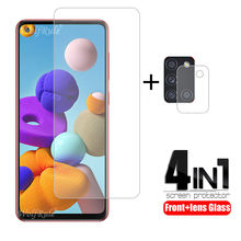 4-in-1 For Samsung Galaxy A21S Glass For Samsung A21S Tempered Glass For Samsung M21 M31 M11 A51 A71 A11 A31 A41 A21S Lens Glass