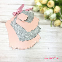 5 Pcs/set Bingkai Metal Cutting Dies Stensil untuk Diy Scrapbooking Foto Album Dekoratif Embossing DIY Kertas Kartu(China)