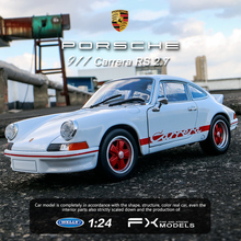 welly 1:24  Porsche 911 CarreraRS car alloy model simulation decoration collection gift toy Die casting boy