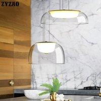 Post modern Designer Glass Pendant Lights Dining Room Living Room Kitchen Hanging Lamp Simple Hanglamp Home Decor Light Fixtures|Pendant Lights| |  -
