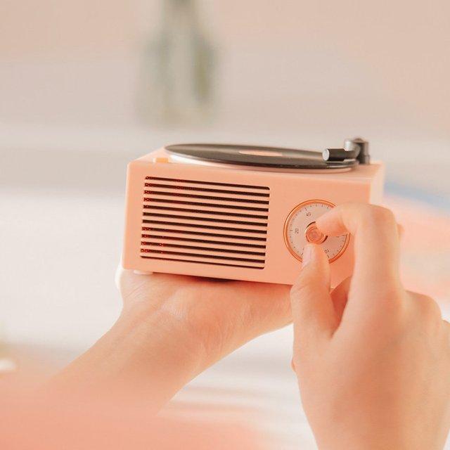 Mini Steel Retro Atomic Speaker Radio Cassette Recorder 4