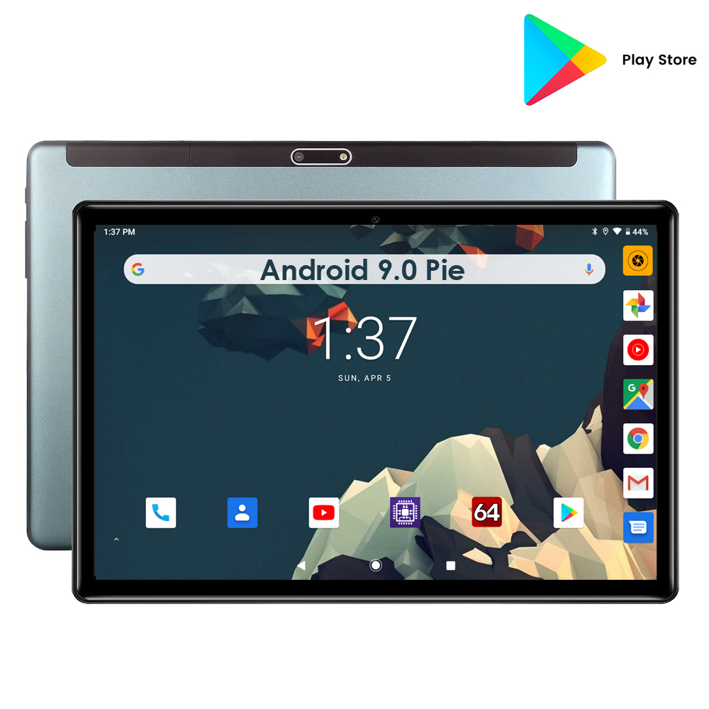 New Android 9 Pie 10 Inch 32GB EMMC Tablet Quad Core Dual Cameras 5MP Dual SIM Cards WIFI Bluetooth GPS Pad Youtube