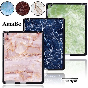 Case For Apple iPad 2 / iPad 3 / iPad 4 Tablet PC Plastic Marble Pattern Hard Shell Case Cover for ipad 2 ipad 3 ipad 4 case pu leather tablet cover full protection 9 7 inch drop resistance dog pattern shell