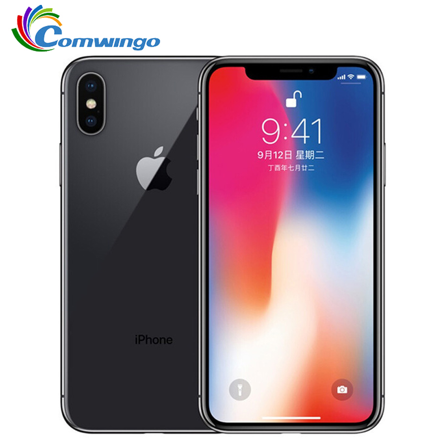 Оригинальный Apple iPhone X 64 Гб/256 Гб ПЗУ 5,8 дюйма 3 ГБ ОЗУ Core iOS A11 двойная задняя камера 4G LTE разблокировка iphone x