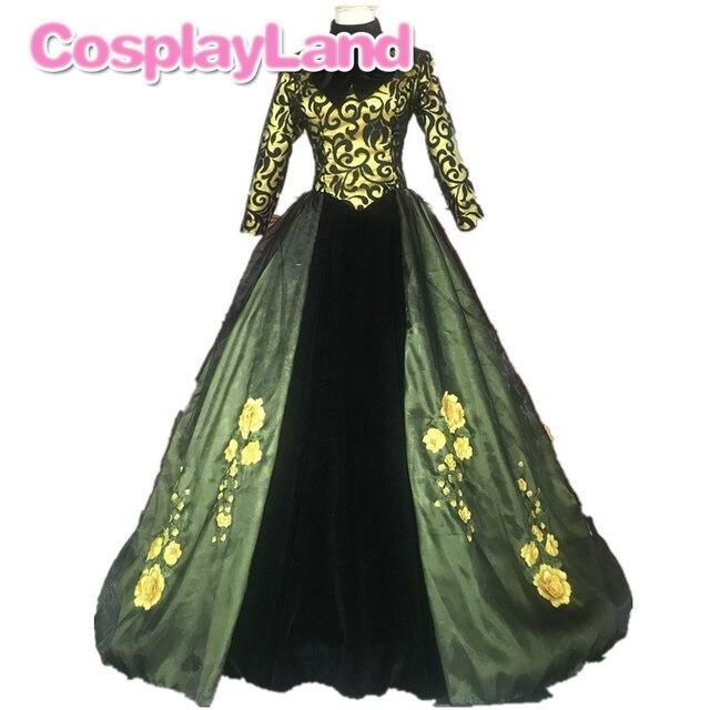 Cendrillon belle-mère Cosplay Costume fantaisie carnaval Halloween Costumes femmes robe Cate Blanchett robe verte avec jupon