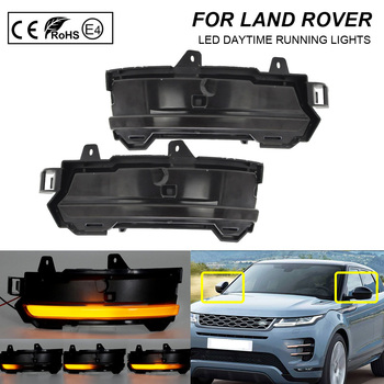 2XFor Land Rover Range Rover Evoque Velar Discovery Sport Dynamic Sequential LED Side Mirror Blinker Indicator Turn Signal Light