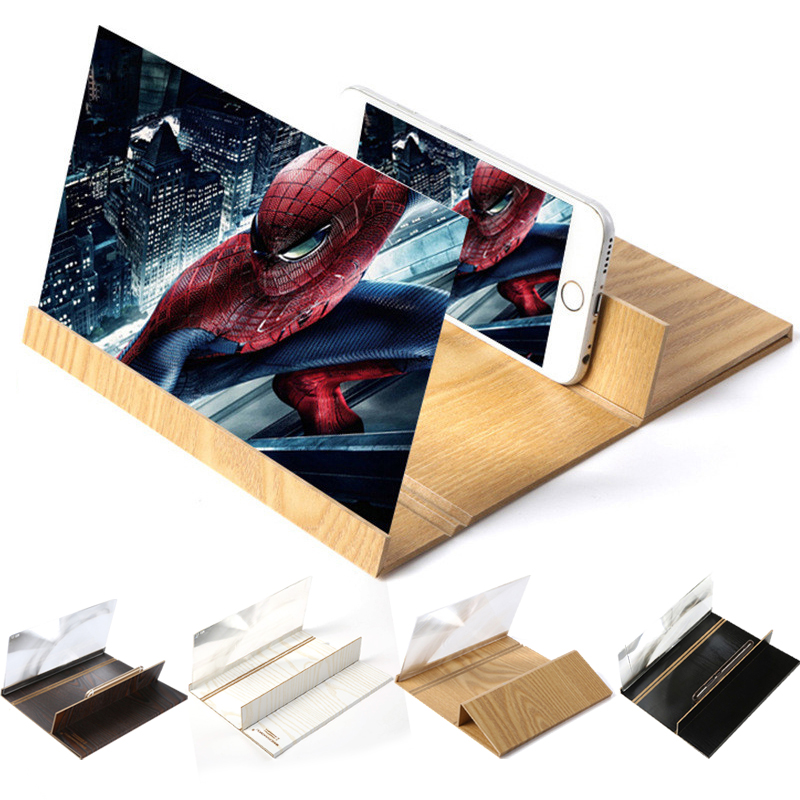 12in Mobile Phone Screen Magnifier HD Video Amplifier Folding Enlarged Expander Stand For Samsung Xiao Mi Smart Mobile Phone