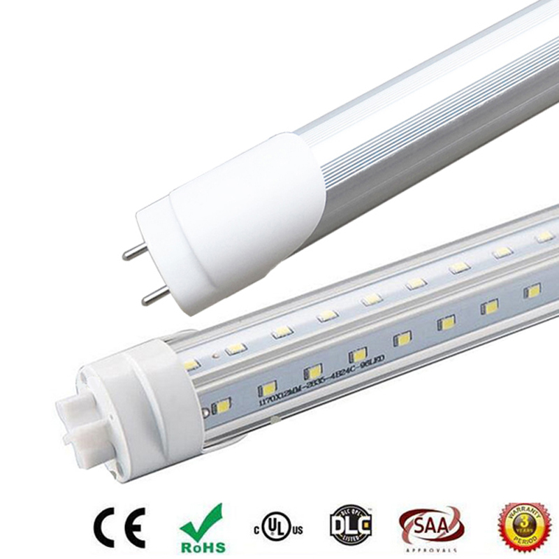 150cm V-Shaped Double Side Glowing T8 <font><b>LED</b></font> Tube 5ft <font><b>1.5m</b></font> 36W Clear Cover/Frosted Cover <font><b>Led</b></font> Lamp Warm White/Cool White free UPS image
