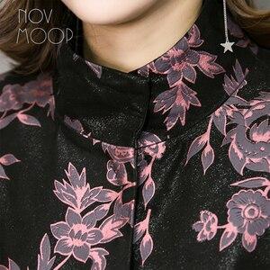 Image 5 - Novmoop مكتب سيدة حجم كبير سترة جلد طبيعي النساء جلد الغنم معطف سترة واقية القمم chaqueta mujer cuero genuino LT2845