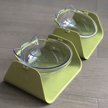 1pcs 15 Degree Adjustable Pet Feeder Bowl Dog Cat feed bowl Waterer Feeding Food Dish Feeders Tableware