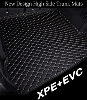 Custom fit car trunk mats for Land Rover Discovery 3/4 LR3/4 Sport Freelander 2 6D car styling rugs carpet floor liners