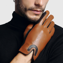 Mans Gloves High Quality Sheepskin Horse Riding Breathable Unlined Knight Equestrian Male TE0712