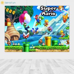 Image 4 - Sensfun Custom Super Marios Photography Backdrops Kids Birthday Party Photo Background High Quality Vinyl Background Photocall