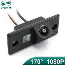 GreenYi 170 Degree 1920*1080P Vehicle Rear View Camera for VW Volkswagen SKODA FABIA/SANTANA/POLO(3C)/TIGUAN/TOUAREG/PASSAT Car