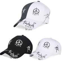 Fashion Women Sun Hat Cotton Men's Baseball Cap White Black Summer Outdoor Adjustable Caps Couple Iron Ring Hats Snapback Caps цены
