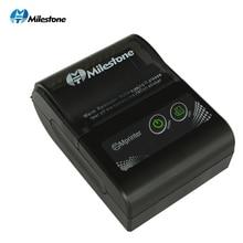 Milestone термопринтер чековый Bluetooth беспроводной билетный мини принтер карманный портативный USB Windows Android IOS 58 мм 2 дюйма pos