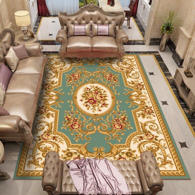 120*180cm grand tapis pour salon enfants ramper tapis européen Jacquard corail polaire tapis maison tapis porte tapis couverture - 6