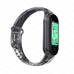 Image 5 - Nova pulseira para xiaomi mi banda 6 5 descoloração transparente silicone substituição pulseira para xiaomi miband 6 miband5 cinta