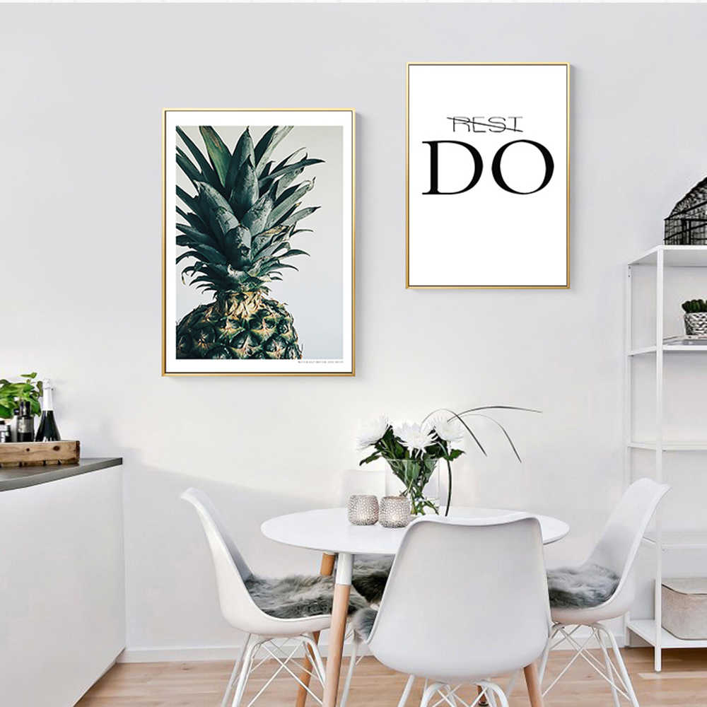 Pineapple Green Plant Canvas Painting Wall Picture Print Picture Wall Art Poster Living Room Bedroom Home Decors With You