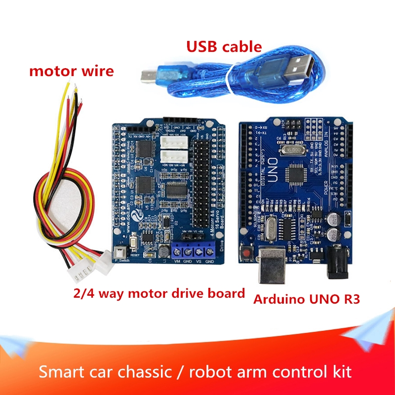 Bluetooth WiFi Handle Car Chassic/Smart Robot Arm Controller Kit Motor Driver Board UNO Board WiFi/Bluetooth Module Handle