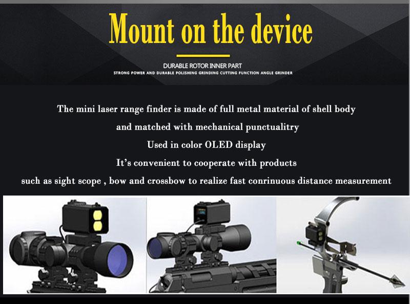 Mini laser range finder mount on rifle rangefinder for outdoor hunting shooting απόσταση ταχύτητα μετρητής σε πραγματικό χρόνο 700m msow