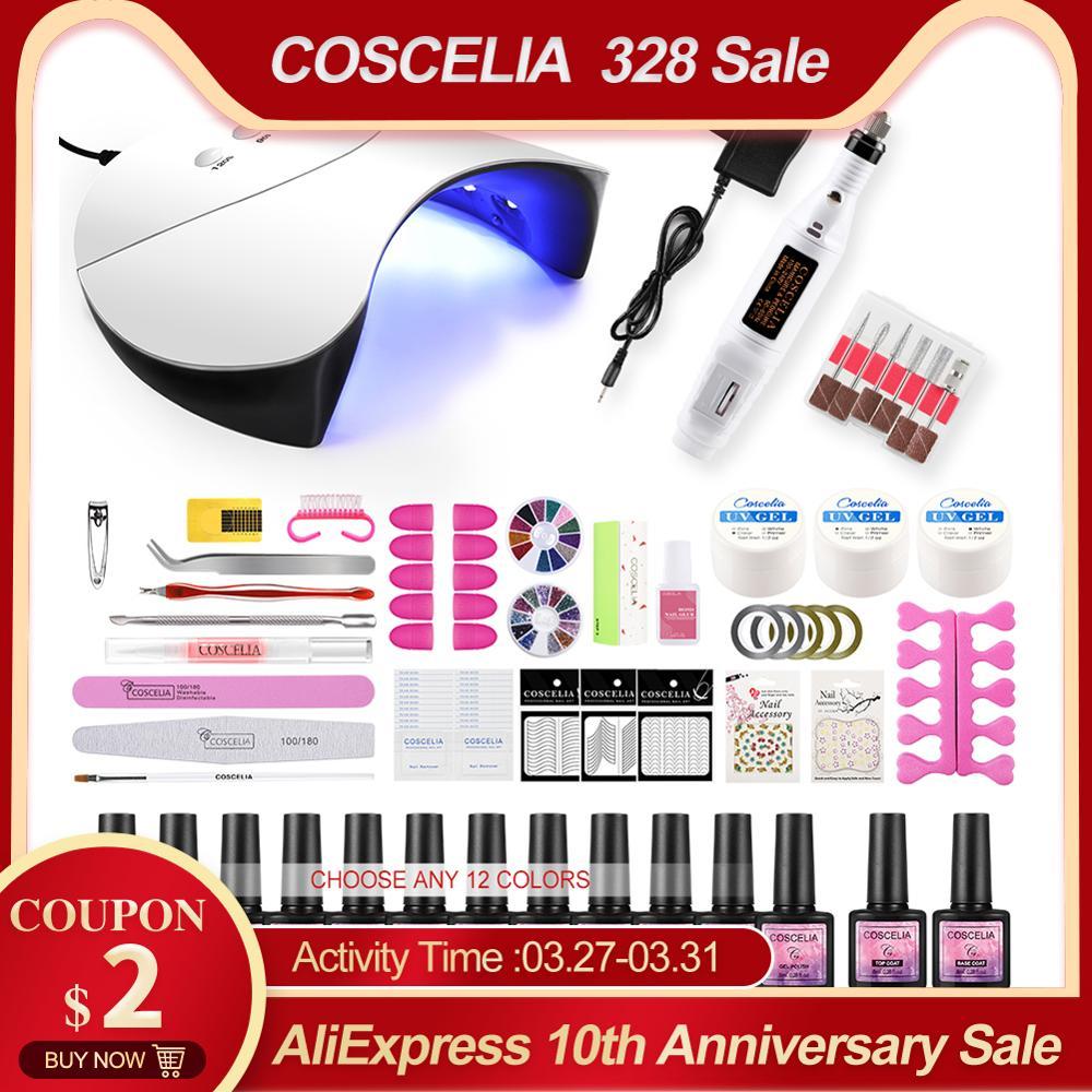 Manicure Set Acrylic Nail Kit Brushes For Manicure Gel Nail Polish Kit UV LED Lamp Set For Nail UV Gel Polish All For Manicure