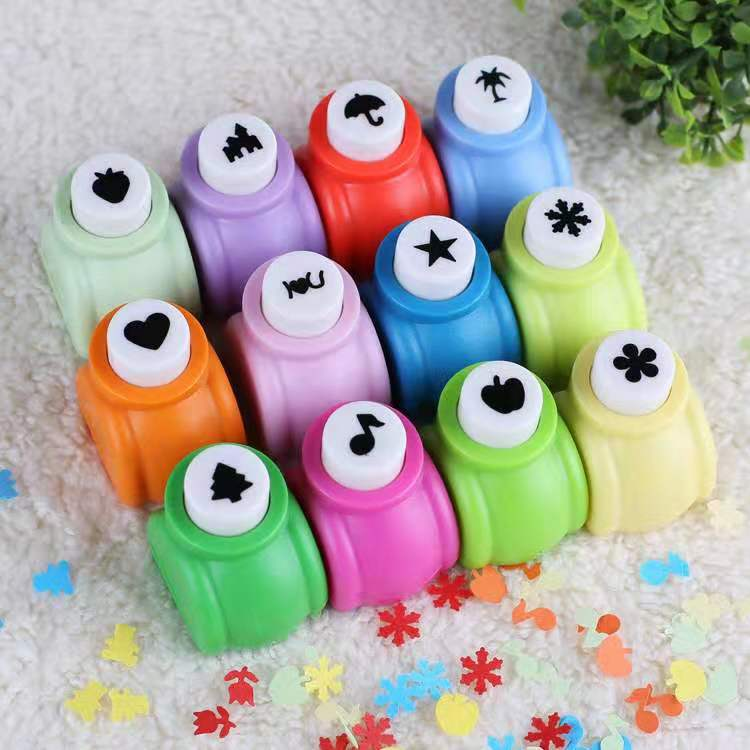Kid Girl Mini Scrapbook Punches Handmade Cutter Card Printing Flower Paper Punch Hole Shape DIY Toys Birthday Gifts For Children