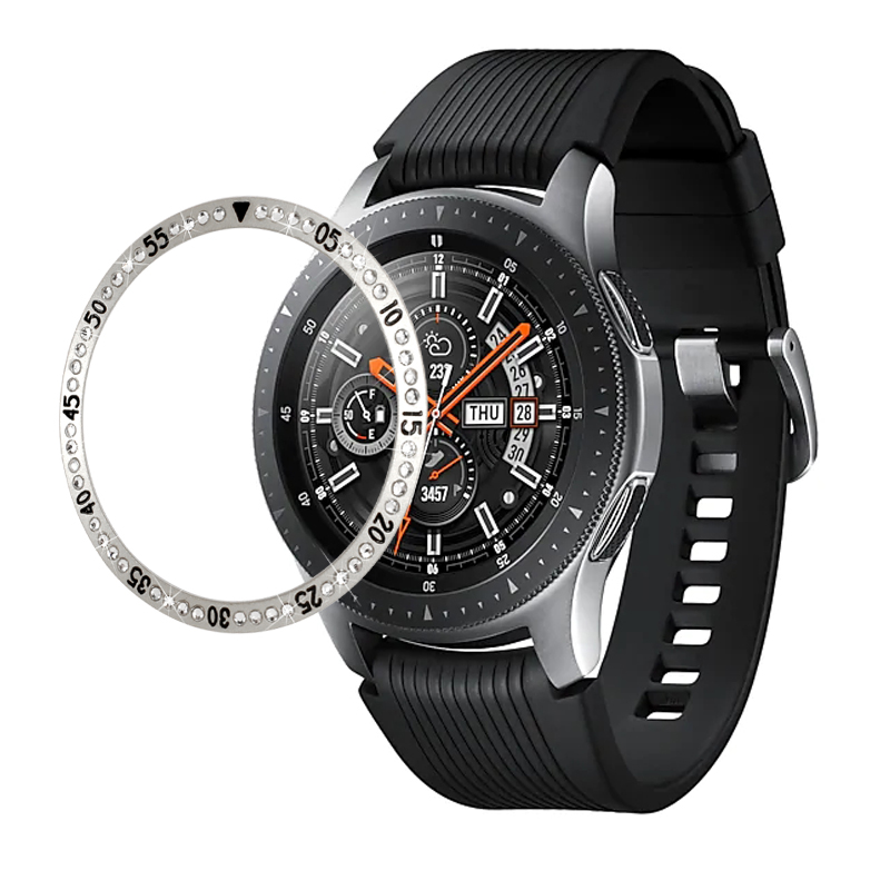 Diamond Beze Cover For Samsung Galaxy Watch 46MM 42MM Bezel Ring Smart Watch Accessories Cover For Samsung gear S3 Active Watch