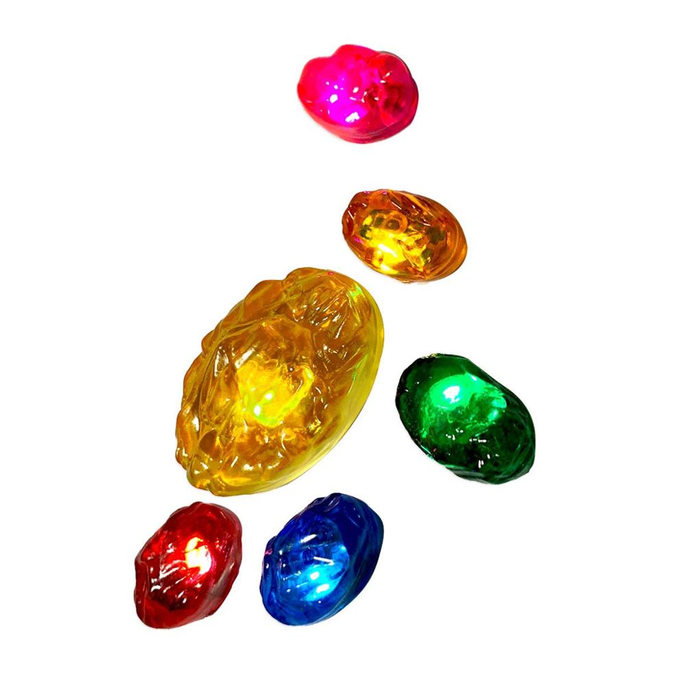 Replace Gems Infinity Stones For Separable Magnetic LED Infinity Gauntlet Removable Replacement Accessories (Kid Adult Size Gem)