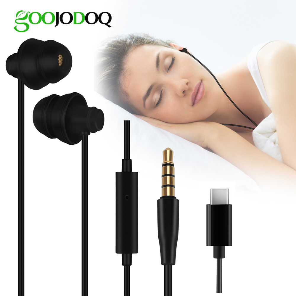 Soft Sleep Earphone Headphones 3.5 Earphone Type C for Xiaomi Redmi iPhone 7 Plus Huawei Sleeping Headphones for Children kids