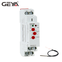 Free Shipping GEYA NEW GRW8-01 Din Rail Temperature Control Relay 16A Wide Range Voltage  AC/DC24-240V with Waterproof Sensor