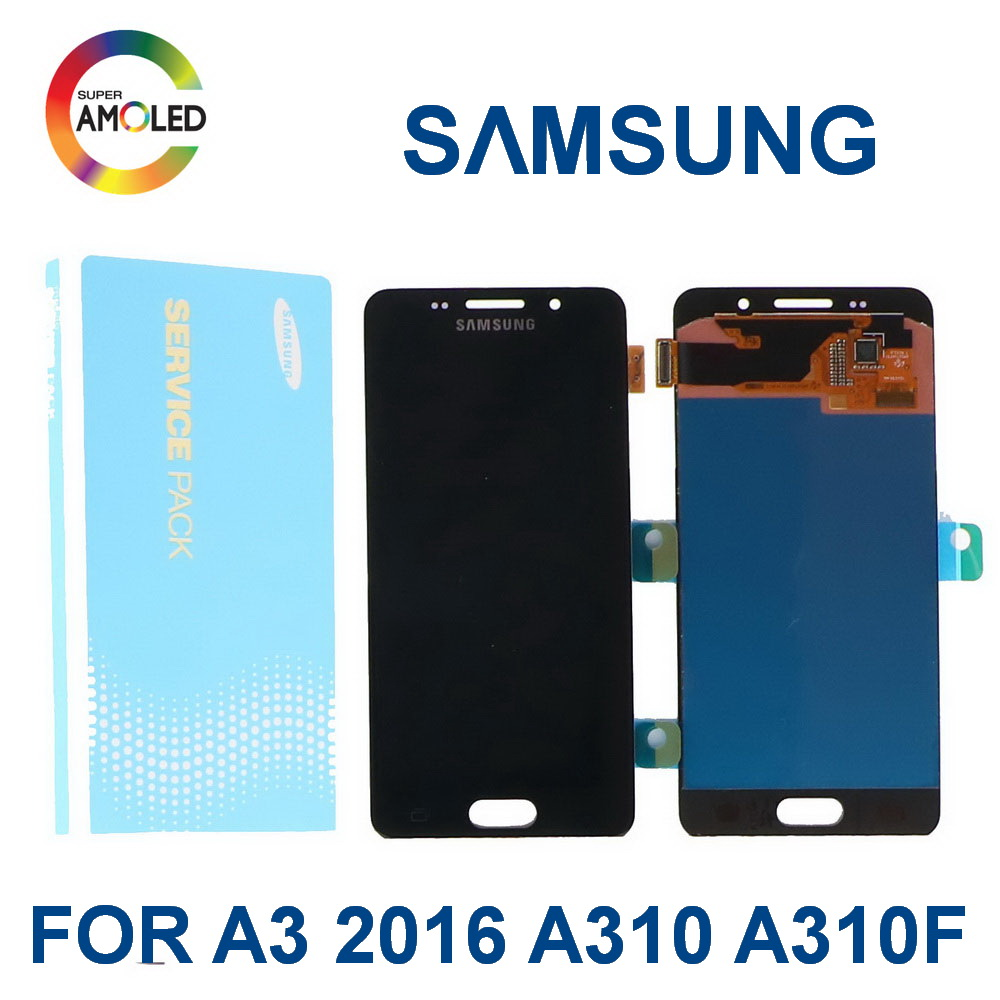 <font><b>Original</b></font> 4,7 ''Super AMOLED Für <font><b>SAMSUNG</b></font> <font><b>Galaxy</b></font> A3 2016 <font><b>A310</b></font> A310F <font><b>A310</b></font> handy <font><b>LCD</b></font> Display Touchscreen Digitizer montage image