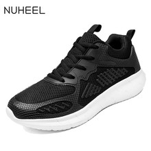 NUHEEL men's running shoes breathable mesh running shoes lightweight wear-resistant running shoes casual sports shoes men