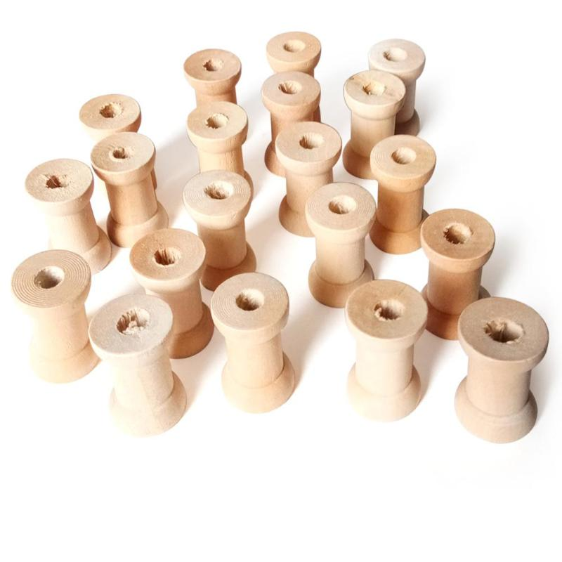 Wooden Spool two sizes Thread reels Sewing Ribbon