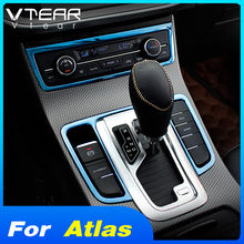 Vtear auto center konsole rahmen getriebe shift panel dekorative streifen abdeckung innenausstattung Für Geely Atlas Emgrand NL-3 Proton 2018