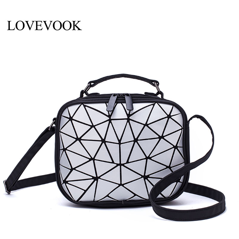 LOVEVOOK Women Handbags Crossbody Bags For Women 2019 Fashion Shoulder Messenger Bags Female Flap Bag PU Leather Geometric Bags
