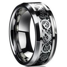 Anillo de acero inoxidable 316L de DRAGÓN dorado Vintage en 4 colores, joyería para hombre, anillo de boda para amantes