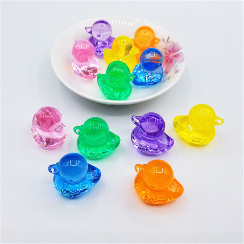 5 Pieces 30*30*22mm Acrylic Crystal Duck Shape Game Pieces For Board Games Accessories