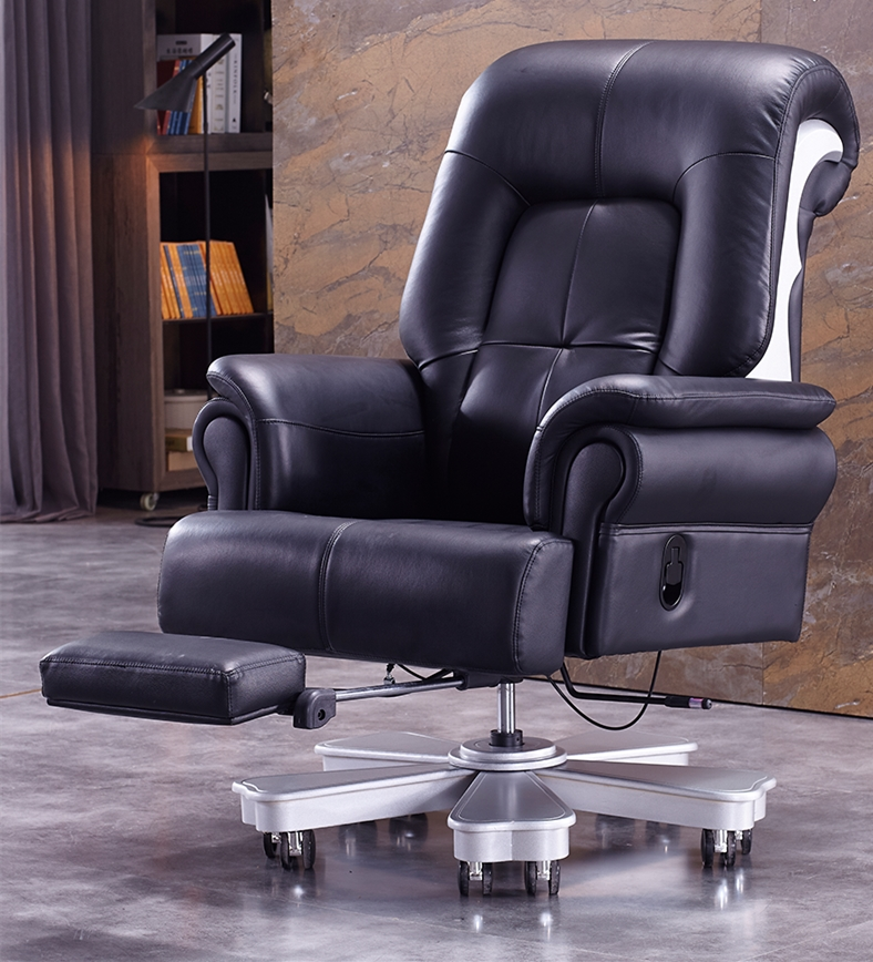 Leather Chairs Leather Chair Wood Office Massage Chair  President Chair Reclining Massage Chair Lift Computer