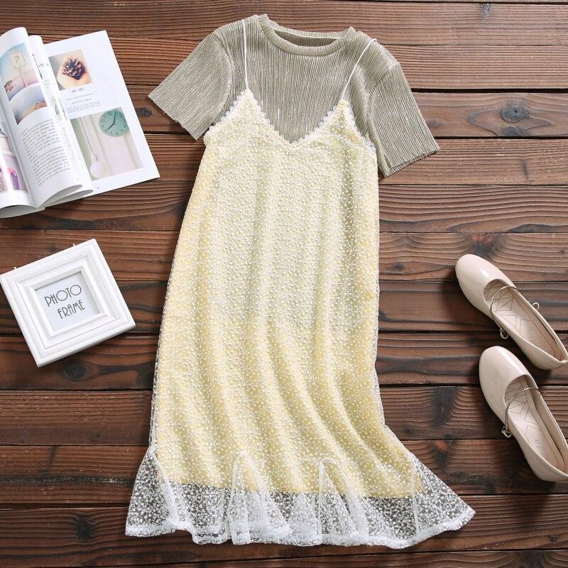 Xiaozhong Hanging Dress Suit Women's New Summer Suit Mori Female Wind Two-piece Skirt
