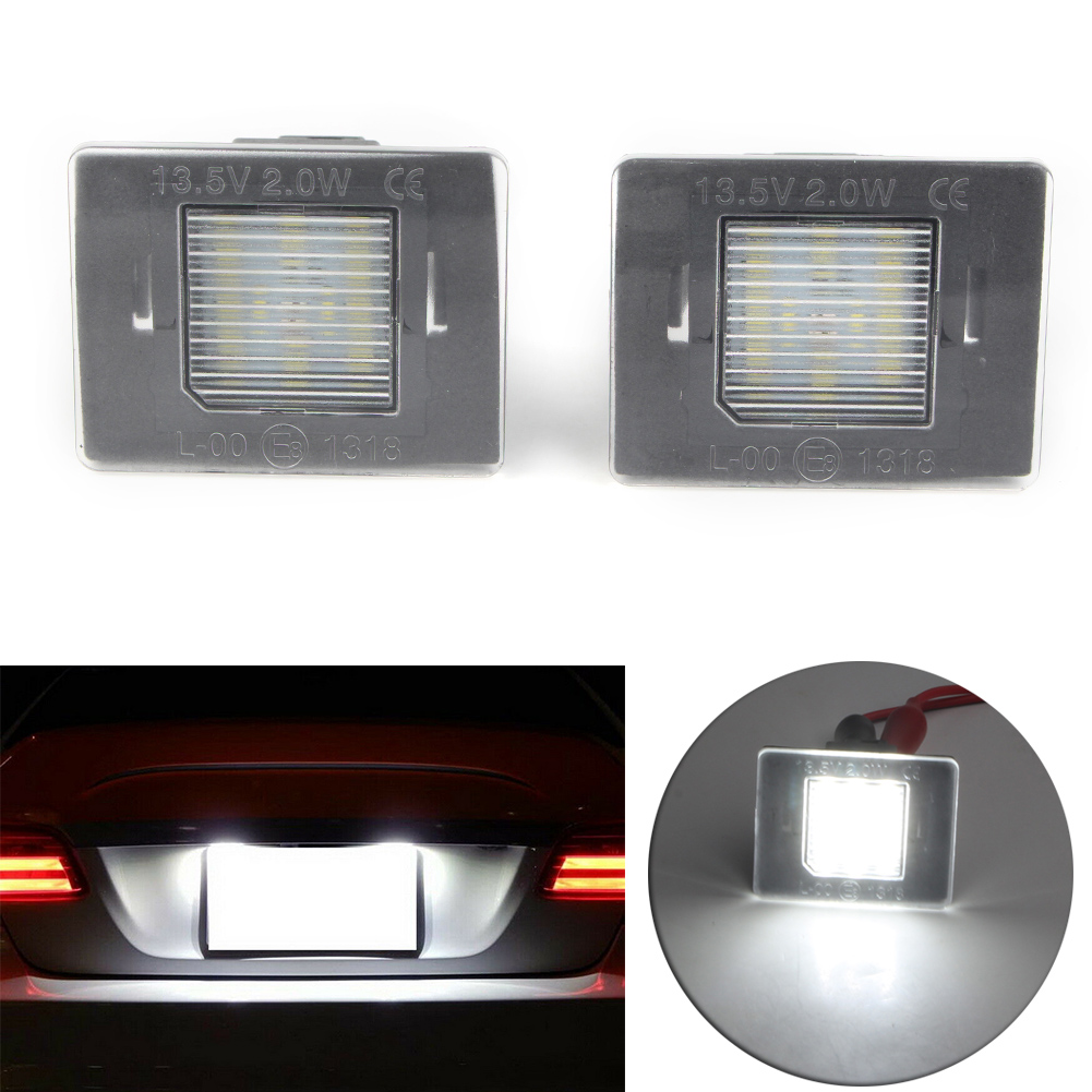 Otomatik CAN-bus beyaz LED plaka işıkları için Benz GL ML GLK GLA GLC GLE sınıf w176 W166 X156 X166 X204 X205 R172