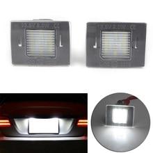 Auto CAN-bus White LED License Plate Lights For Mercedes-Benz GL ML GLK GLA GLC GLE Class W176 W166 X156 X166 X204 X205 R172