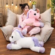 Giant Size Rainbow Unicorn Plush Toy Soft Stuffed Cartoon Dolls Animal Horse High Quality Gift