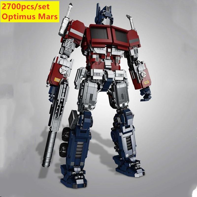 New Optimus Marlys Movie MOC Transformers Robot Model  Fit Lepinings Deformation Prime Heroes Building Block Brick Model Toy