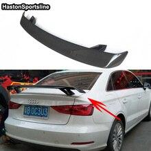 Alerón trasero para maletero de coche, fibra de carbono, para Audi A3 S3 RS3 S Line