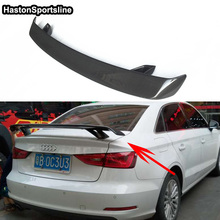 For Audi A3 S3 RS3 S Line Carbon Fiber Car Styling Rear Trunk Spoiler Wing