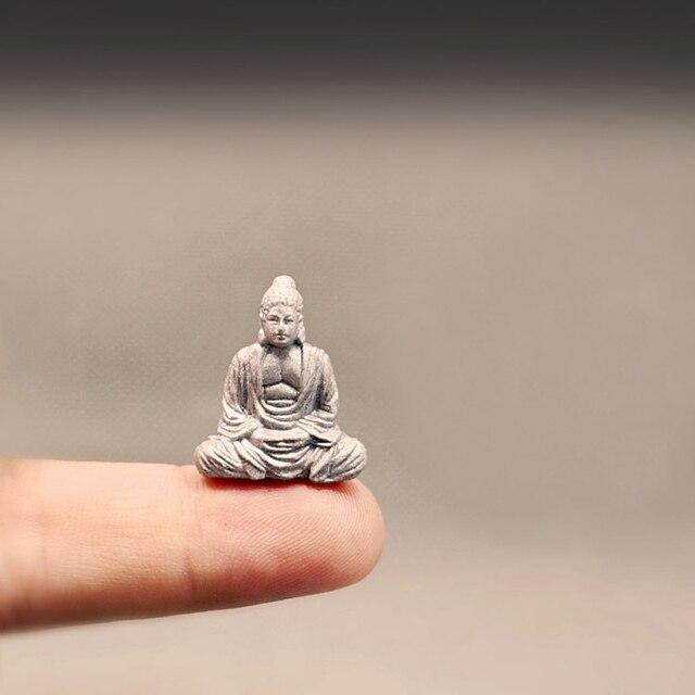 NEW~1Pcs Maitreya Buddha statue/fairy garden gnome/moss terrarium home decor/crafts/bonsai/bottle garden/miniature/figurine 2