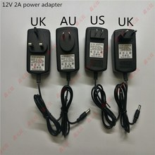 2A LED power adapter 12V 24W strip transformers US EU UK AU plug High quality switching power supply